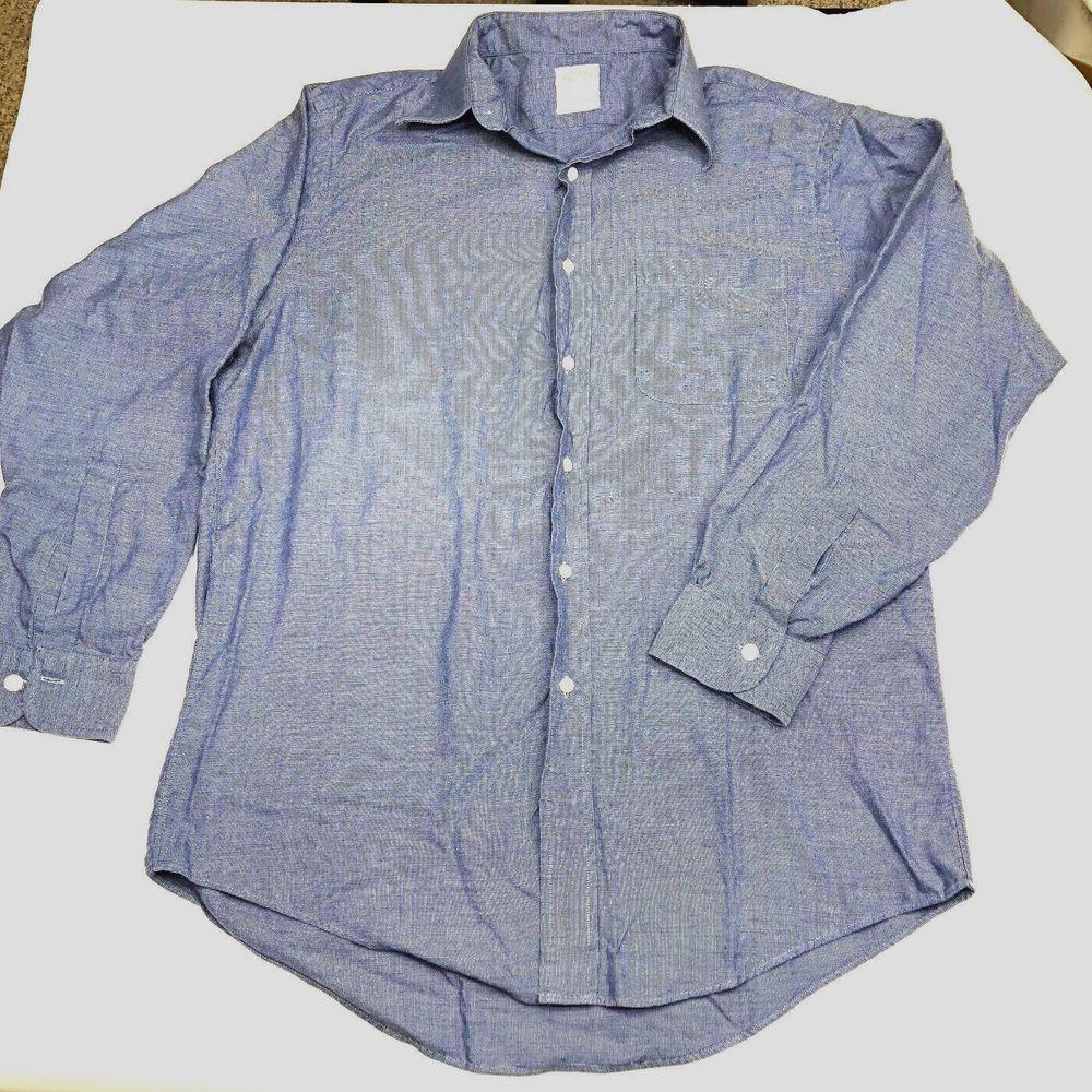 Menus brooks brothers long sleeve dress shirt cotton