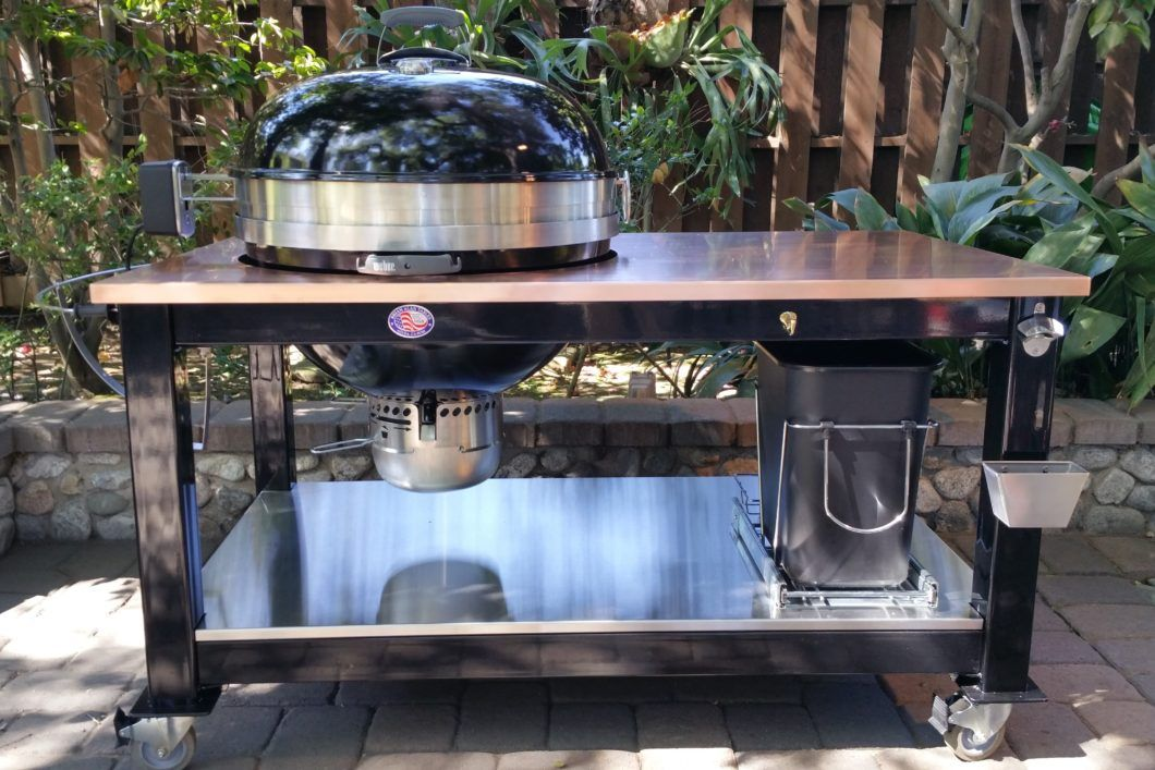 Enjoyable Custom Tables For Weber Kettle Grills Brian Alan Tables Download Free Architecture Designs Terstmadebymaigaardcom