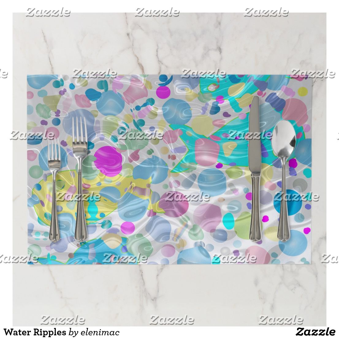 Water Ripples Paper Placemat | Zazzle.com #waterripples
