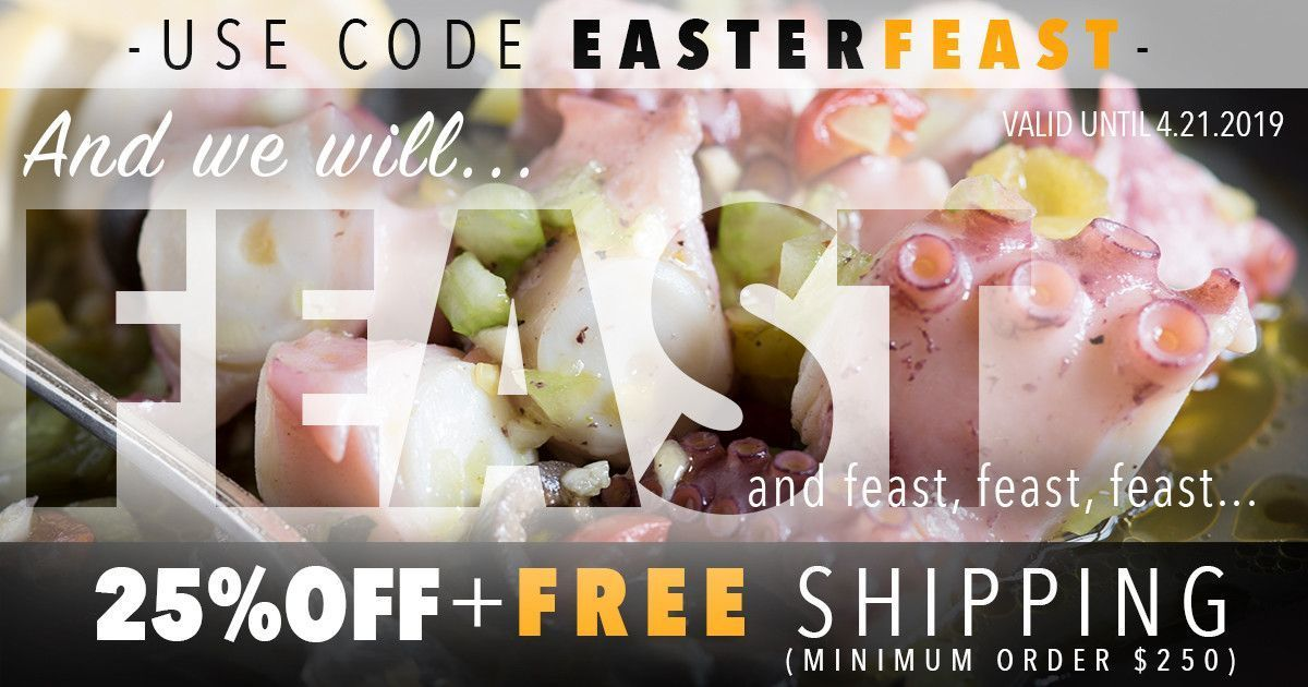 Freshen up your Easter dinner menu with delicious FRESH FISH and SEAFOOD... Delivered to your doorstep! Get 25% off orders over $250 with code EASTERFEAST. Offer valid until 4.21.19. Exclusions apply. #easterdinner #easter #easterbrunch #easterrecipes #fultonfishmarket #fultonfresh #freshseafood #seafood #seafoodlover #seafooddiet #seafooddinner #seafoodrecipes #foodie #foodies #chef #recipe #recipes #freshfish #fish #fishlover #fishdiet #fishdinner #fishrecipes #easter dinner fish Buy Seafood O