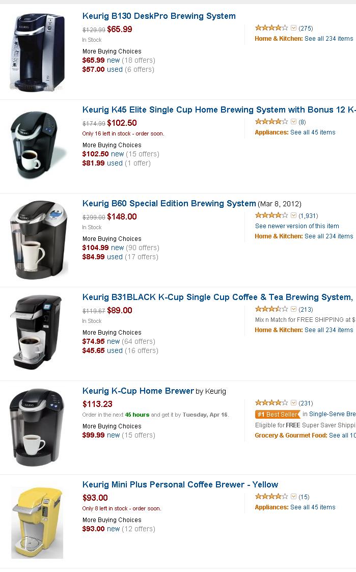 Keurig Single Cup Coffee Maker Reviews Keurig Single Cup Coffee