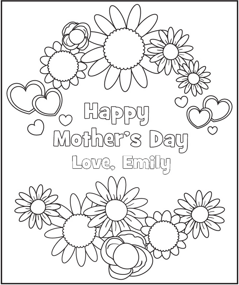 Personalized Mother S Day Coloring Page Frecklebox Mothers Day Coloring Pages Printable Coloring Pages Coloring Pages