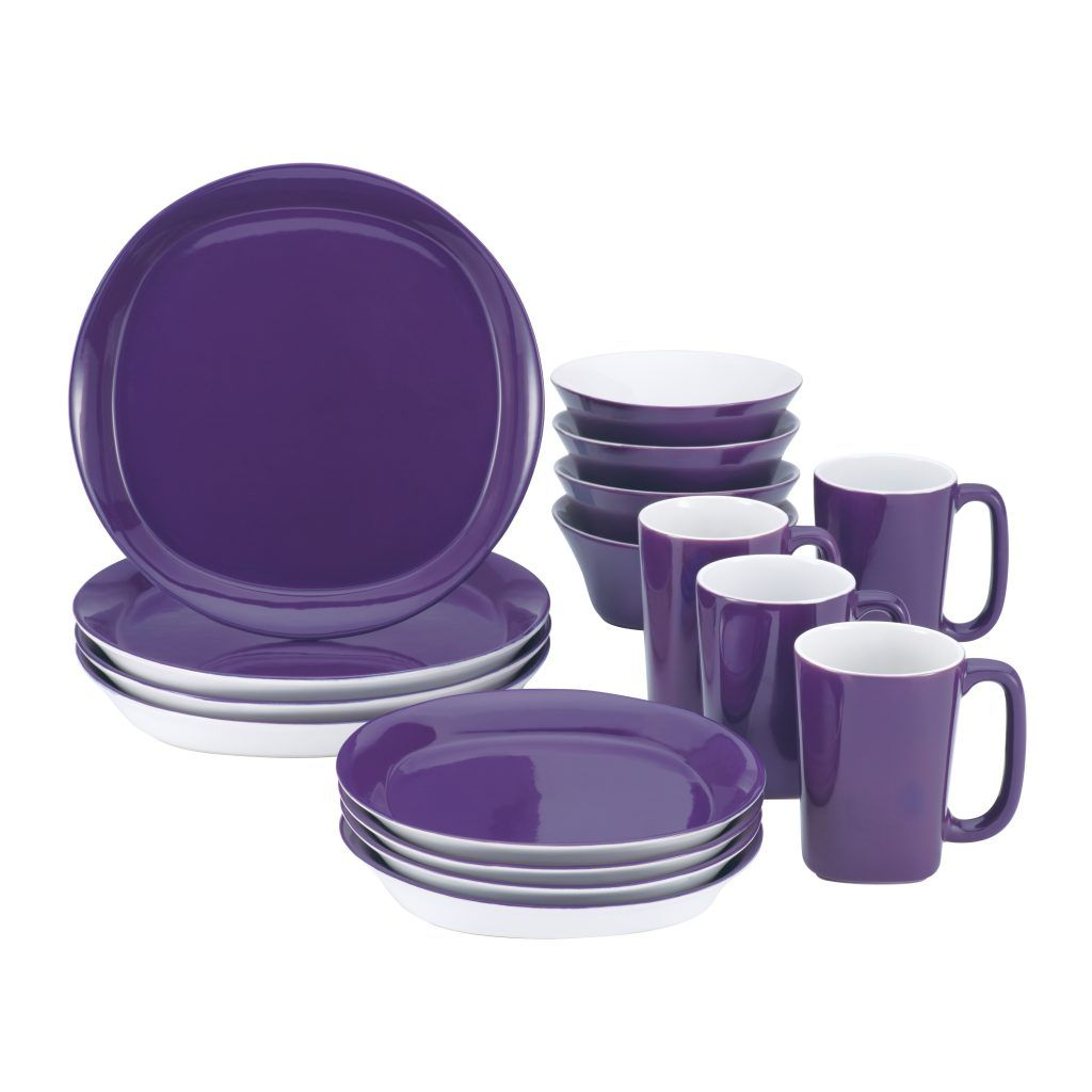 Purple Kitchen Plate Sets | http://avhts.com | Pinterest