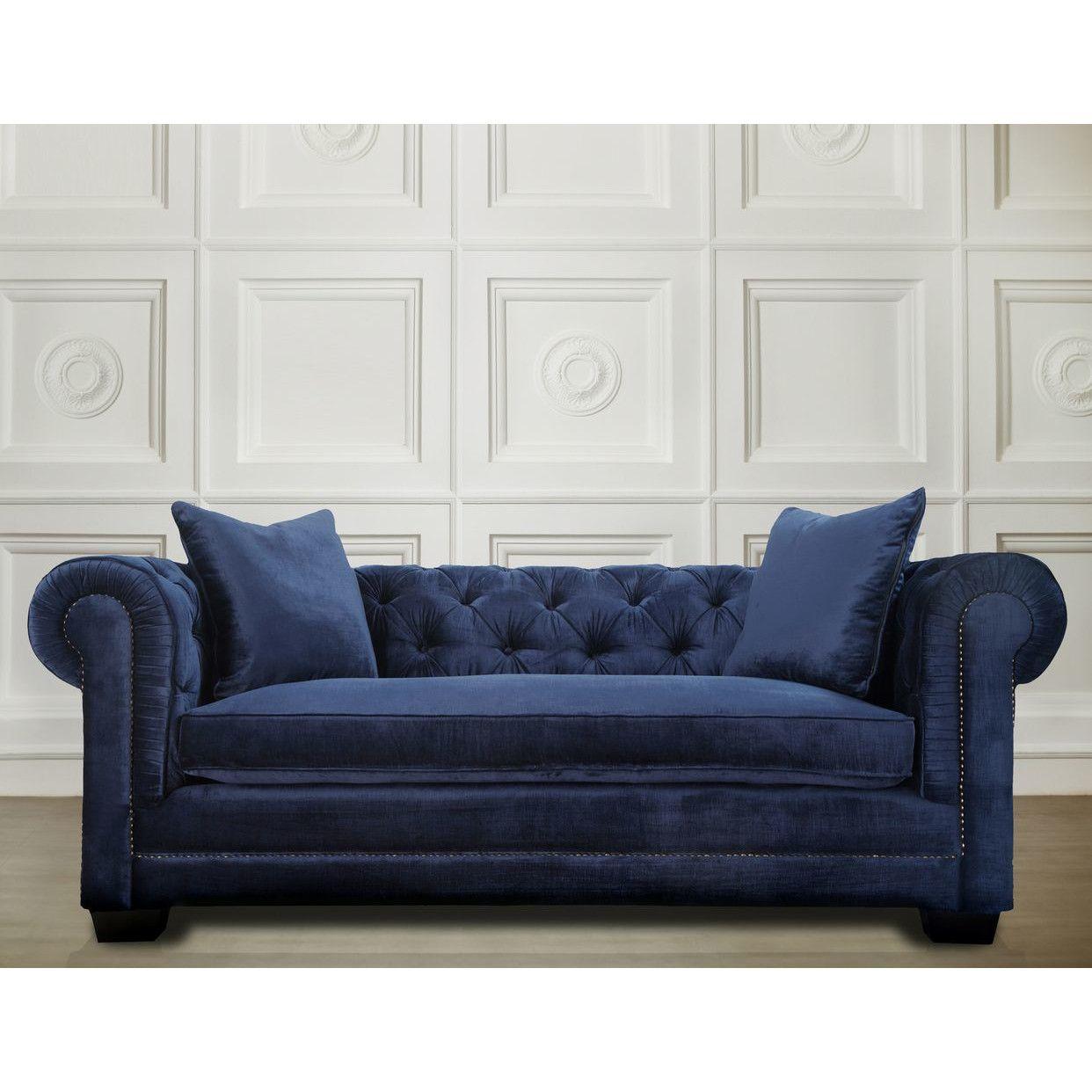 Wayfair Blue Sofa Furniture Navy Velvet Sofa Sofa