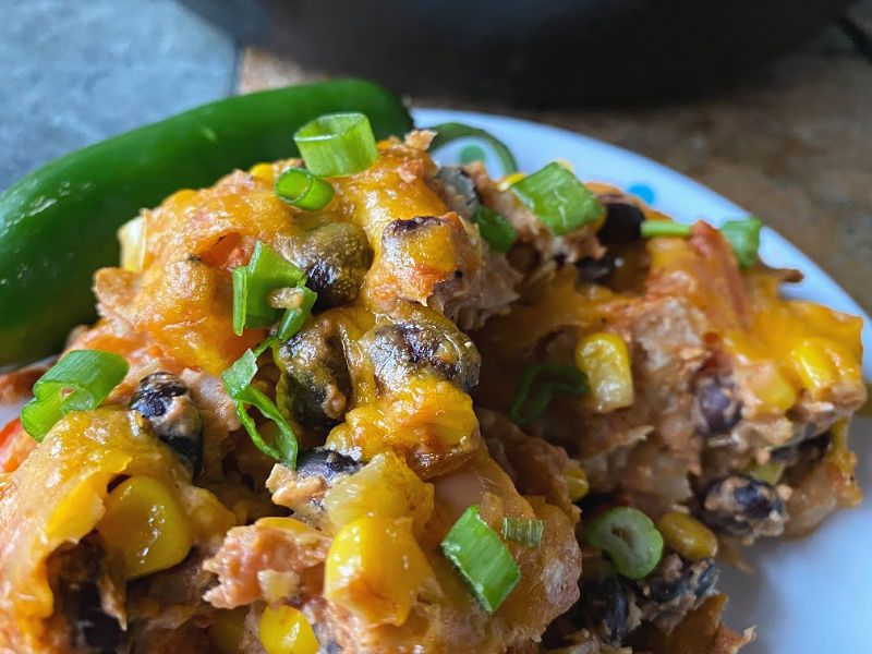 Deconstructed Vegetarian Enchiladas Skillet #tacotuesdayrecipes