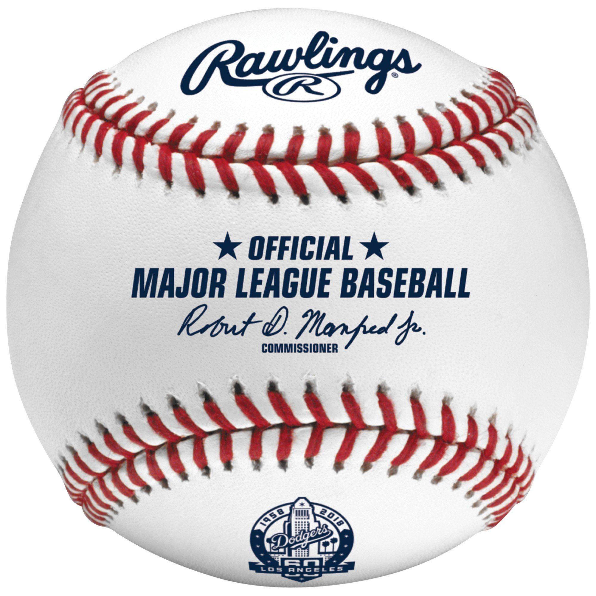 Los Angeles Dodgers Rawlings 60th Anniversary Baseball Rawlings Baseball Mlb World Series Major League Baseball