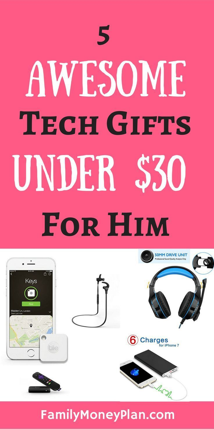 Gifts Under 30 For Him Awesome Tech Gift Ideas Giftsfordad Giftsforhim Technology