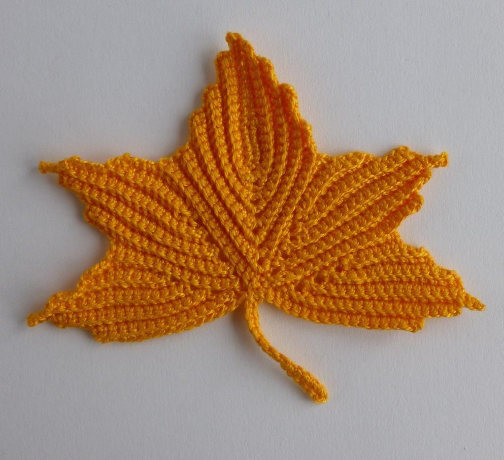 Maple leaf motifs. Irish crochet | Leaves, Crochet and Crochet leaves