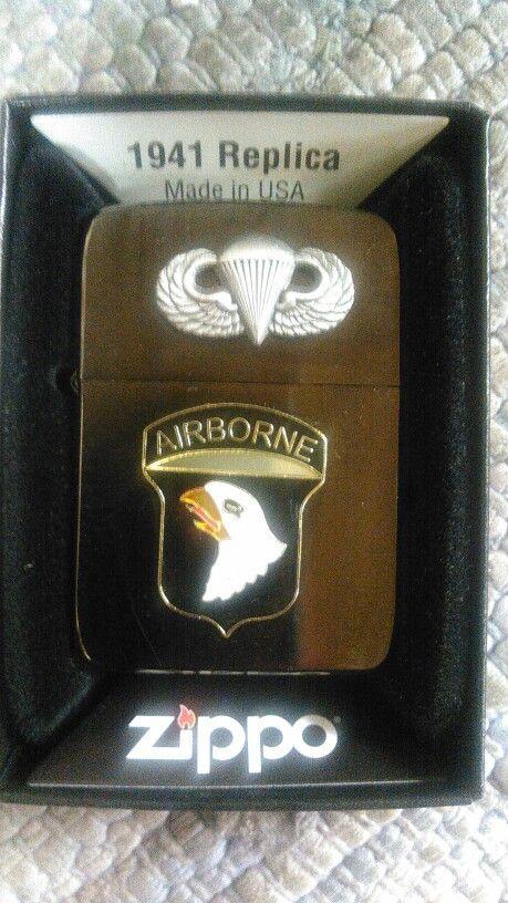16 Air Assault Airborne Regimental style flip top Lighter.