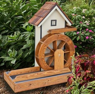 Bon Amish Made Water Wheel Garden Accent Is Sure To Create A Striking Focal  Point For