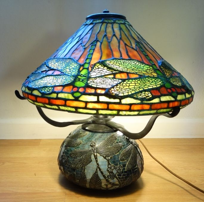 Tiffany Style Lamp Shades New Vintage Tiffany Style Bronze Firefly Lamp & Mosaic Firefly Shade W Design Inspiration