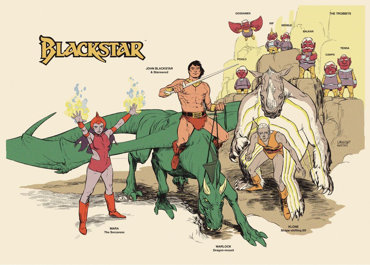 Collectibles Collection Here Blackstar On Dragon Cartoon Original Animation Art With Original Background