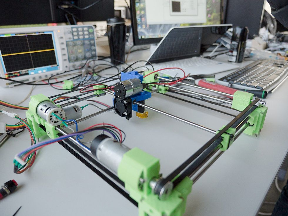 Robots and Drones Use Brushed DC motors, So Why Not 3D Printers?[RAPPY] The 3D printer with position feedback control system