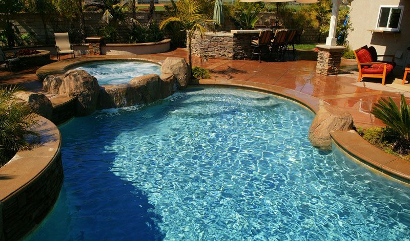 backyard view cool natural inground swimming pool - Cool Backyard Swimming Pools