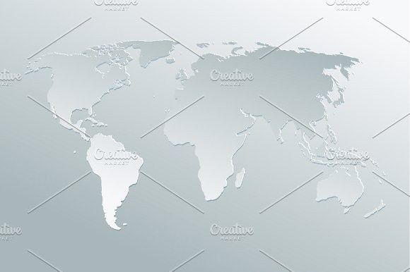 Paper art world map grey background gumiabroncs Gallery