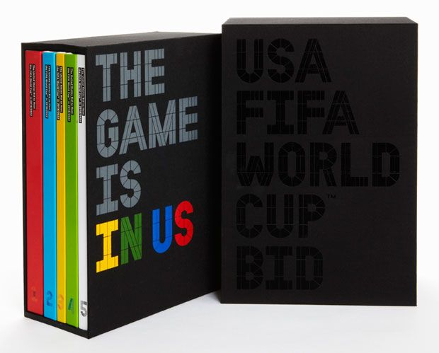 The U.S. Bid Book contains five volumes presented in a slipcase.