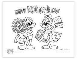 Rusty & Rosy coloring page- Happy Mother's Day