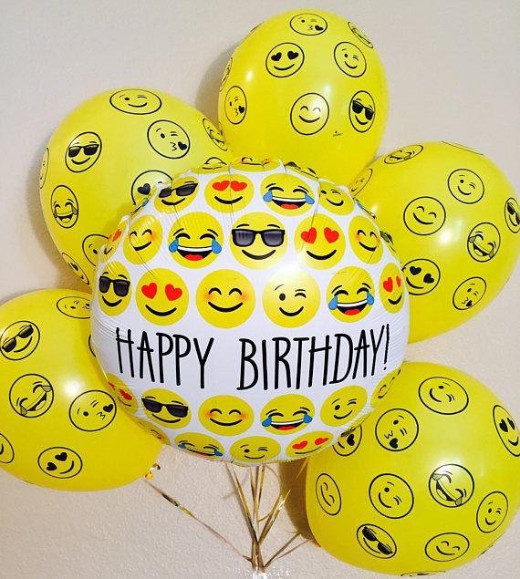 Emoji Latex Balloons Birthday Balloon Bouquet
