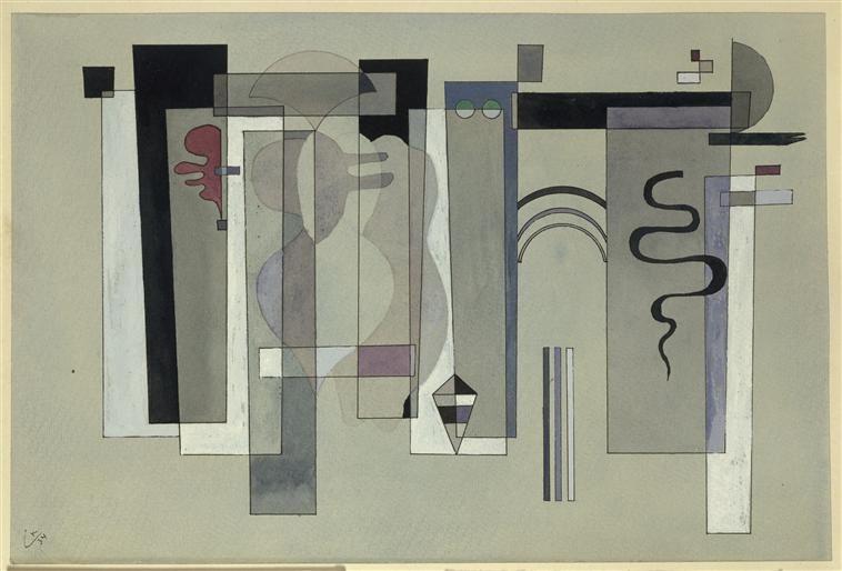 Kandinsky. Surfaces meeting, 1934. Centre G. Pompidou, Paris