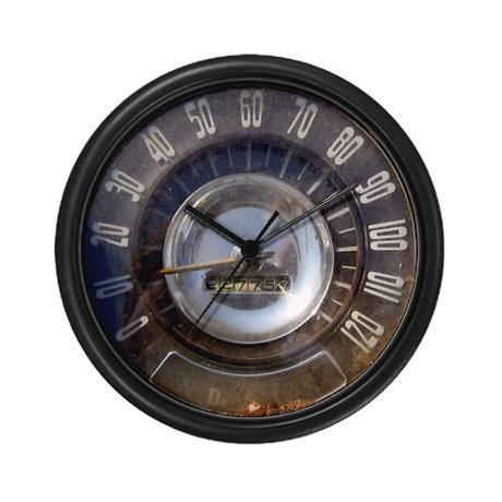 Vintage Speedometer Wall Clock By Clovis Chitwood Heavy Industries Cafepress Vintage Wall Clock Wall Clock Unique Wall Clocks