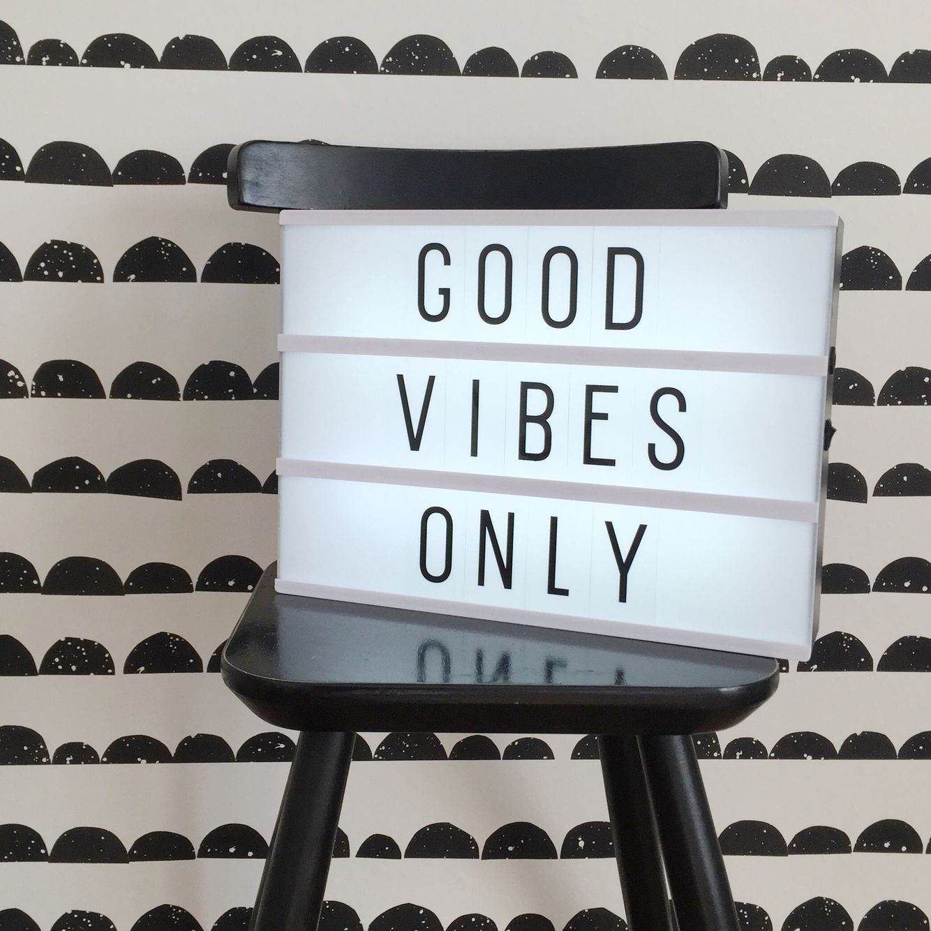 Lightbox Quotes Lightbox Quote Kids Ferm Living Wallpaper Black