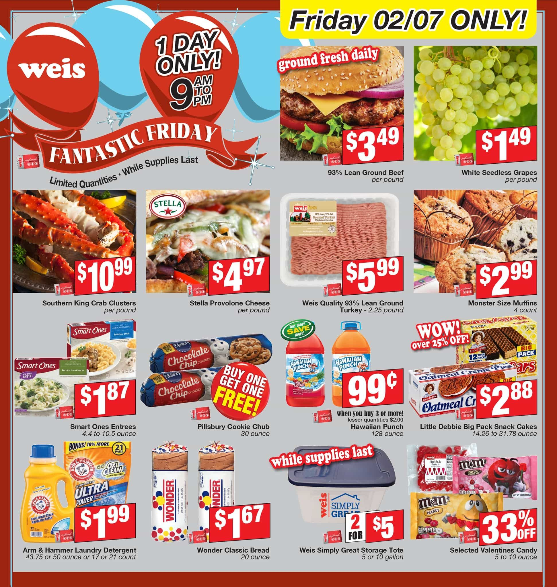 Weis Markets Fantastic Friday Flyer March 6, 2020
