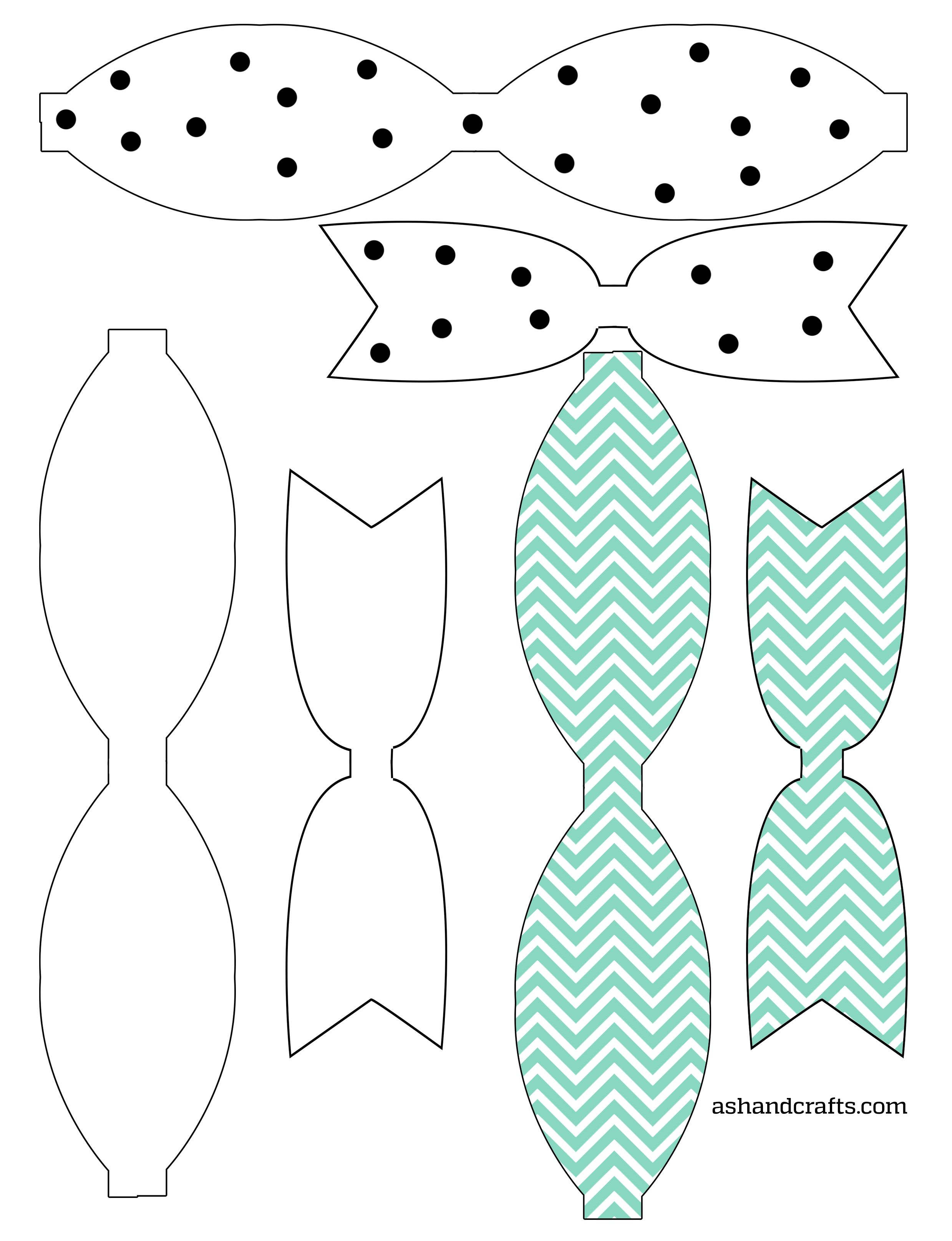 Freebie Friday: Printable Paper Bows | moldes moños | Pinterest ...