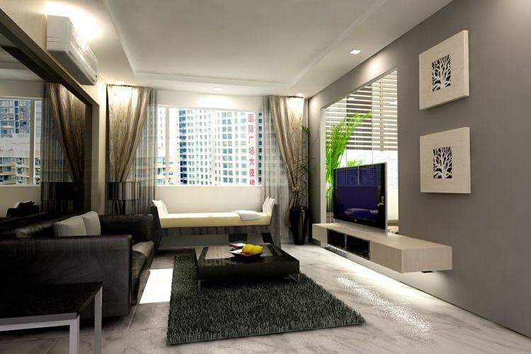 Fesselnd Modernes Wohnzimmer Gestalten U2013 81 Wohnideen, Bilder, Deko Und Möbel  #bilder #gestalten