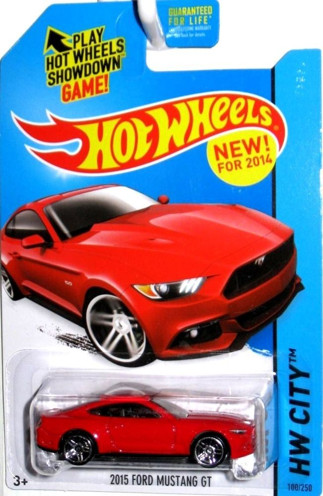 2015 Ford Mustang Gt 2014 Hot Wheels Hw City 100 250 Race Red