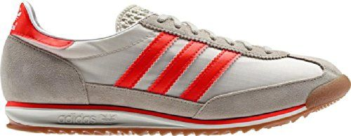 Adidas Originals Men's SL 72 Grey Orange Suede Nylon Retro Gum Casual Shoes  Trainers (UK