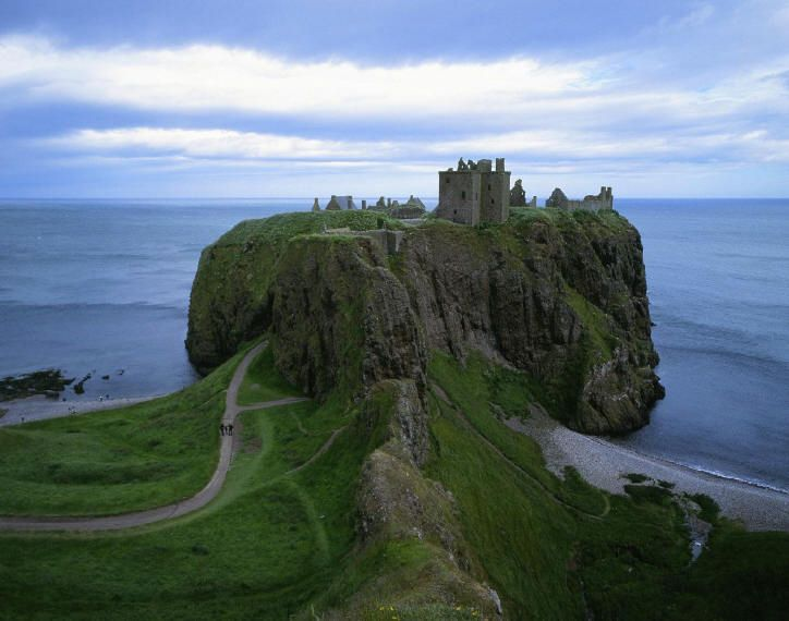 Dunnottar Castle in Scotland. Been there...awesome.