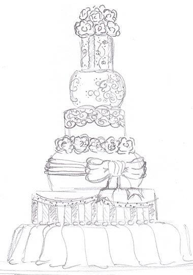 Wedding Cake Weddings In 2019 Cake Sketch Cake Drawing Wedding
