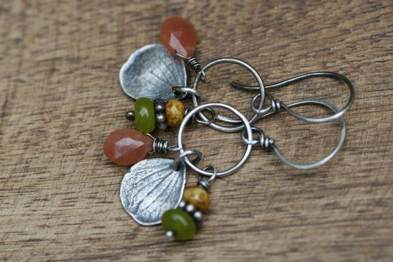Rustic Sterling Silver Rustic Floral Natural Hydrangea by Tribalis