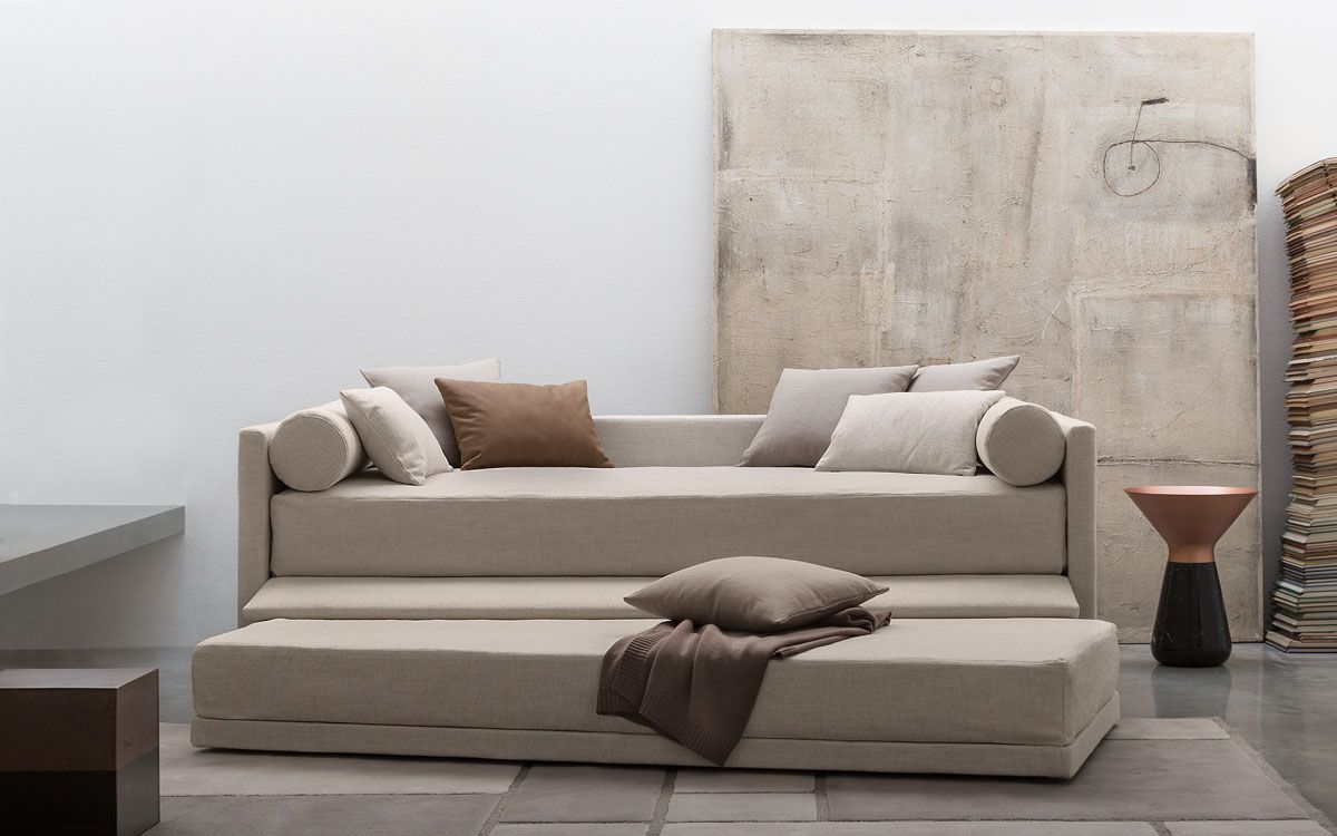 Camerette Per Ragazzi Flou.Single Bed Biss Flou In 2019 Bed Sleeper Sofa Home