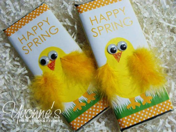 Easter chick chocolate bar favor w yellow feathers for easter easter chick chocolate bar favor w yellow feathers for easter baskets easter favors easter candy school basket filler kids teacher gifts negle Images