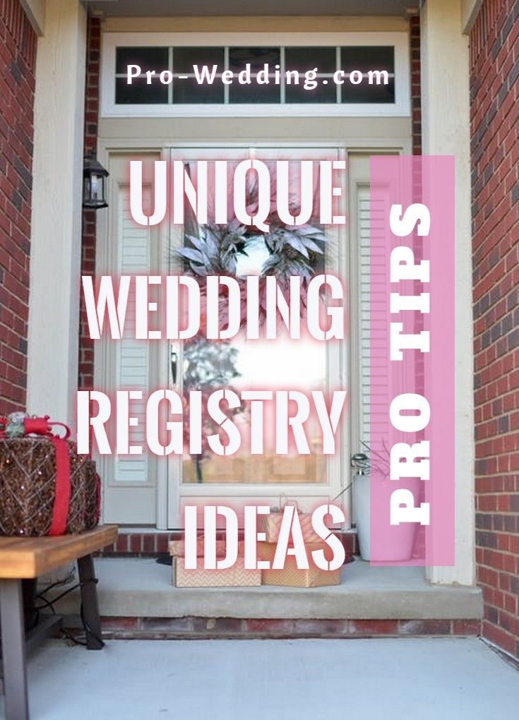 Unique Wedding Registry in 2020 Wedding registry unique