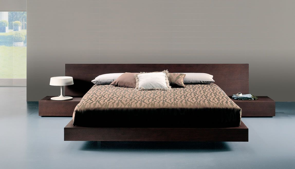 Contemporary wood bed and modernbedroomfurniture italian for Modern wooden bedroom designs