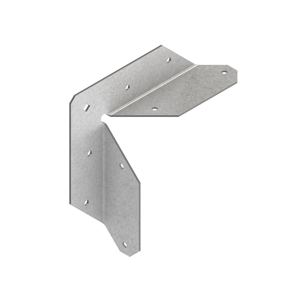 Simpson Strong Tie Rta 16 Gauge Zmax Galvanized Rigid Tie Angle For 2x Nominal Joist Post Rta2z The Home Depot Galvanized Outdoor Projects Metal Fence Posts