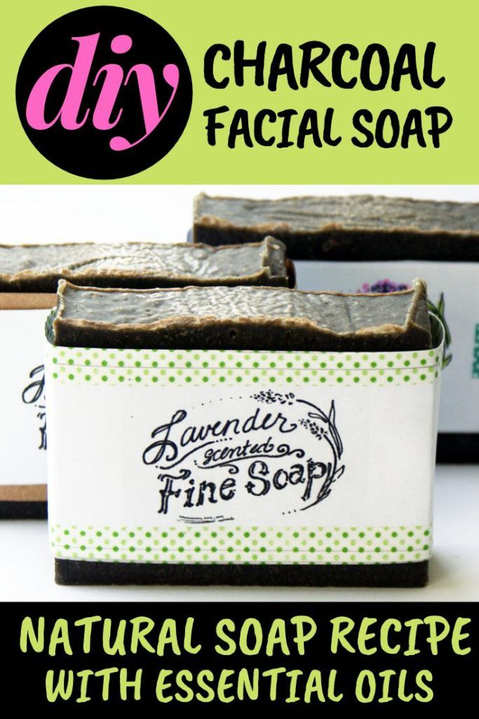Activated Charcoal Facial Soap Recipe for Acne Prone Skin