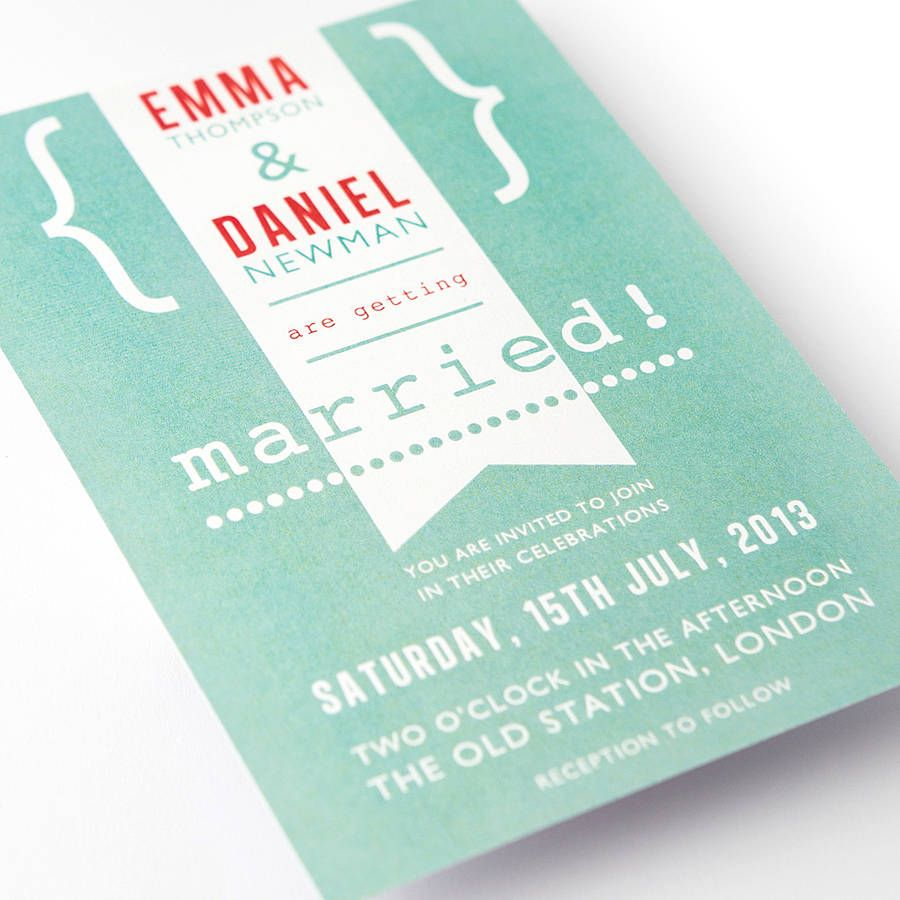 modern wedding invitations in soft green - Modern Wedding Invites