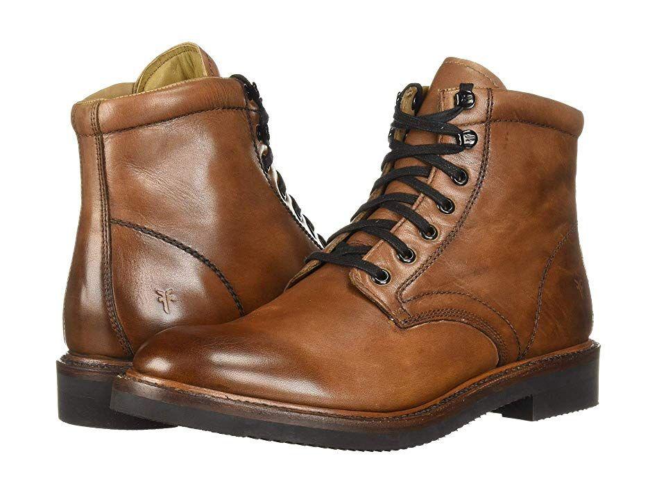 0e80a329524 Frye Gordon Lace-Up (Cognac Hammered Dip-Dye Leather) Men's Lace-up ...