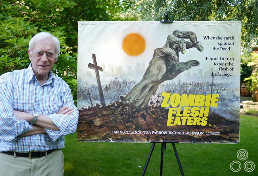 Tom Beauvais with his Zombie Flesh Eaters poster design