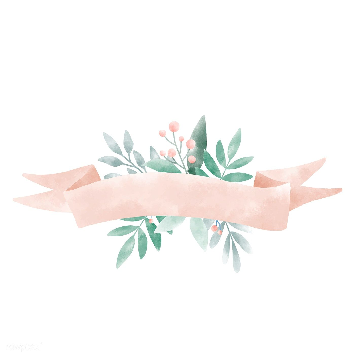 Download Premium Illustration Of Watercolor Leaves With A Banner