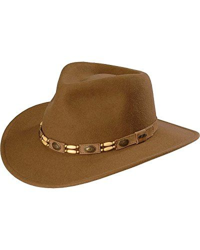 3eee5017 Scala Mens Tracker Wool Outback Hat Pecan Large *** For more information,  visit image link.