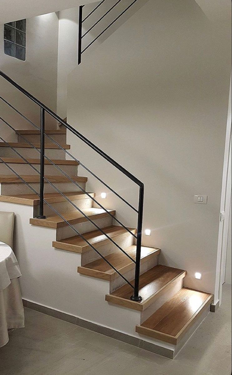 Stair Railing Option In 2020 Home Stairs Design Stairs Design Modern Stairs Design