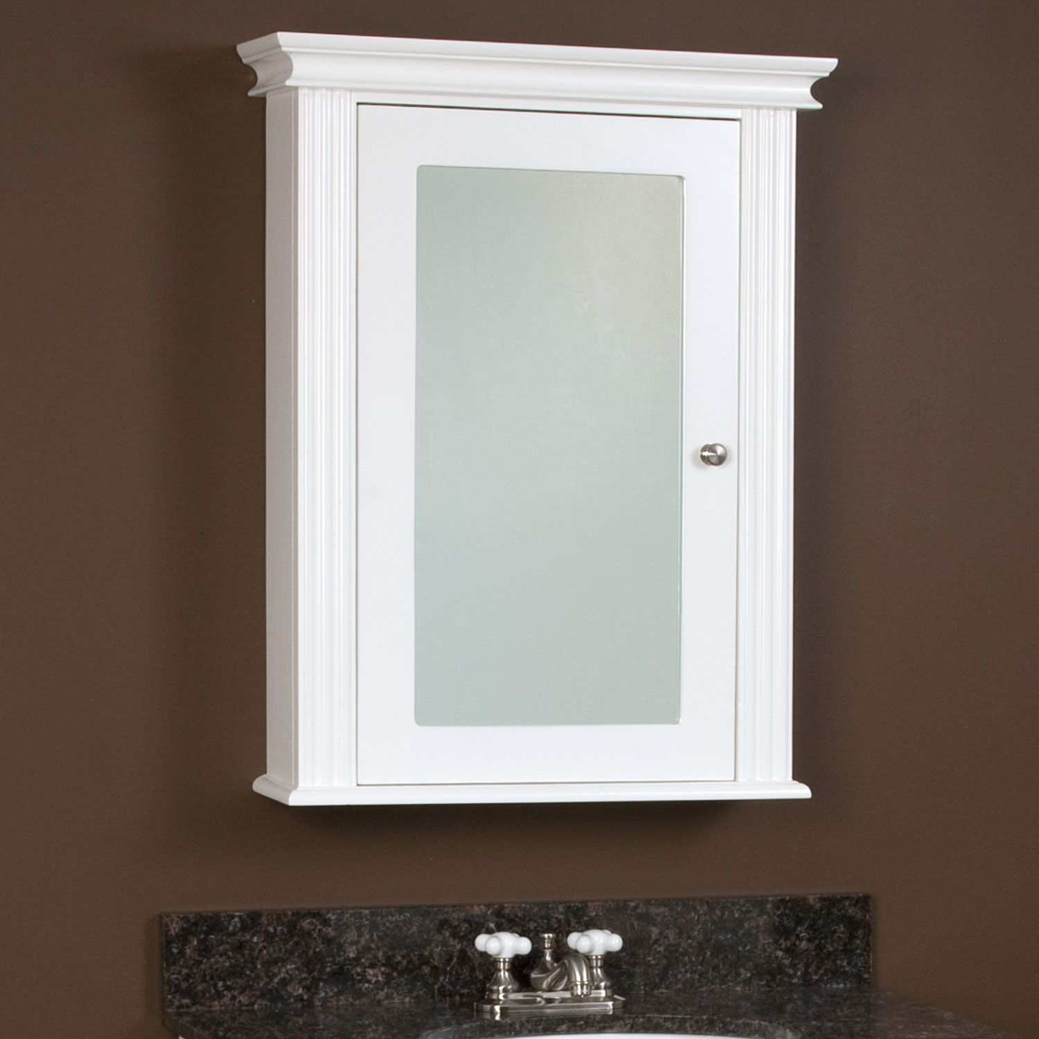 Milforde Collection Medicine Cabinet with Mirror White