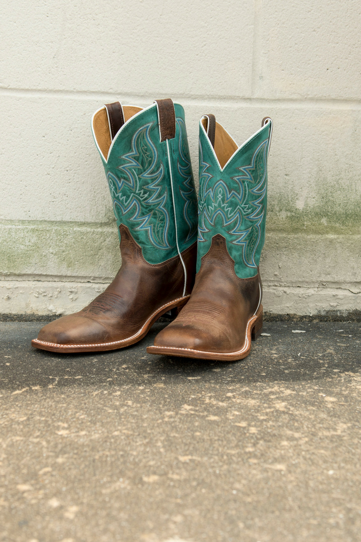Justin Men S Bent Rail Austin Brown And Turquoise Wide Square Toe Western Boot Girls Western Boots Boots Justin Cowboy Boots