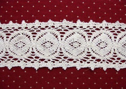 "Cluny Trim Lace Natural Cotton 3//8/"" Wide White Vintage Antique Irish V-White"