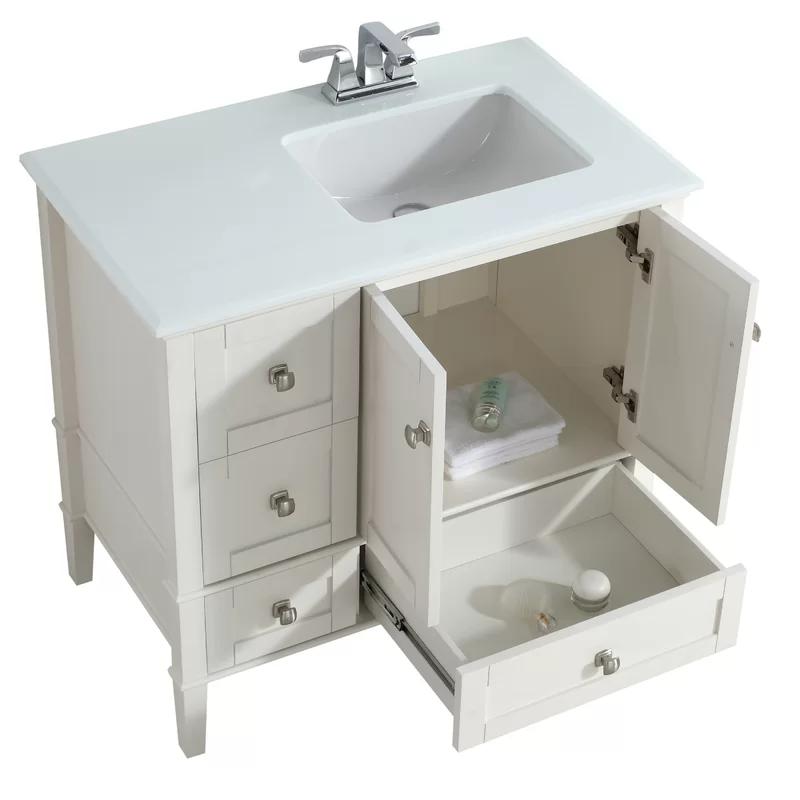 Burholme Right Offset 37 Single Bathroom Vanity Set Single