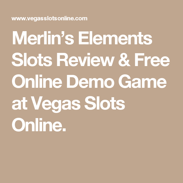 Spiele MerlinsS Elements - Video Slots Online